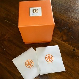 Tory Burch Watch Box, Wipe, EXTRA LINKS, Booklet